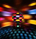 Colorful disco ball lights — Stock Photo