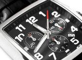 Concetto di tempo moderno orologio da polso in acciaio — Foto Stock
