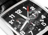 Modern steel wristwatch time concept — Stock fotografie