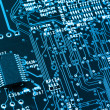 Computer circuit board closeup — Stock Photo