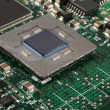 Computer microprocessor closeup - Stock Photo