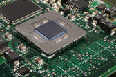 Computer microprocessor closeup — Stock Photo