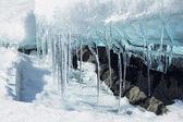 Melting ice glacier — Stock Photo
