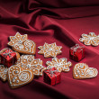 Decorated Christmas gingerbreads - Stock Photo
