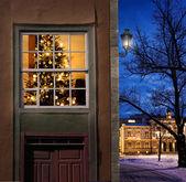 Navidad en pueblo nevado — Foto de Stock