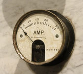 Vintage ammeter closeup — Stock Photo
