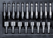Hard metal tool bits collection — Stock Photo