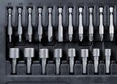 Insieme di bit utensile metallo duro — Foto Stock