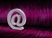 E-mail sign on pixel graphic background — Stock Photo