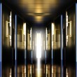 Modern perspective corridor illuminated — Stock Photo