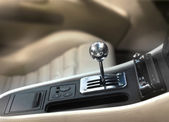 Sports car gearshift knob — Stock Photo