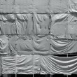 Wrinkled tarpaulin canvas background — 图库照片