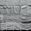 Wrinkled tarpaulin canvas background — Stock Photo