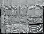 Skrynkliga presenning duk bakgrund — Stockfoto