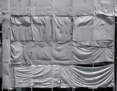 满脸皱纹的篷布画布背景 — 图库照片