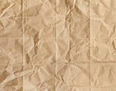 Old brown paper crumpled — Stock Photo