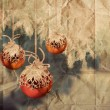 Vintage Christmas balls illustration — Stock Photo