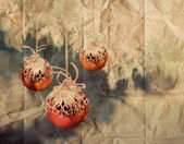 Vintage Christmas balls illustration — Stock Photo