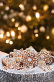 Serving Christmas cookies — Stock Photo