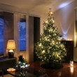 Christmas tree in modern living room — Stockfoto