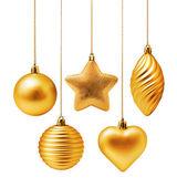 Gold Weihnachtsdekoration — Stockfoto