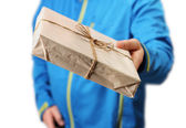 Mail package delivery — Stock Photo