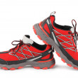 Stock Photo: Red running sport shoes
