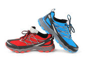 Red and blue running sport shoe — Stock Photo