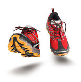 Red running sport shoes — Stock Photo