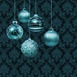 Silver blue Christmas balls — Stock Photo #47152549