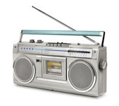 Eighties vintage radio cassette player — Stock Photo