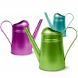 Постер, плакат: Colorful watering cans