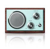 Modern portable radio retro style — Stock Photo