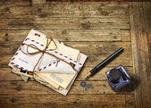 Nostalgic airmail letters — Stock Photo