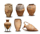 Antique and Minoan vase collection — Stock Photo