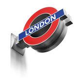 London Underground sign isolated — Stock Photo