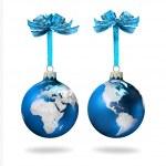World glass balls blue — Stock Photo #9338061
