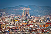 Aerial view of Barcelona, Spain — Stock Photo