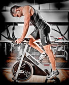Athlete training in a gym — Stock Photo