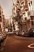 Straat in barcelona — Stockfoto