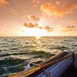 Sunset over the ocean — Stock Photo