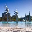 Stock Photo: Beach and Fish Sculptures in Cairns