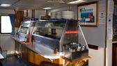 Um aquecedores de comida a bordo de um barco de catering — Foto Stock