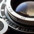 Retro camera lens close-up. — Stock Photo