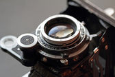 Old camera lens close-up. — Stock Photo