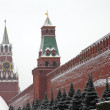 Walls of the Moscow Kremlin, view of the Red Square. — Stock Photo