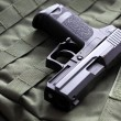 9mm semi-automatic pistol — Stock Photo