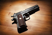 Semi-automatic .45 caliber pistol — Stock Photo