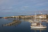 View marina of ponta delgada, Sao Miguel Island — Stock Photo