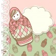 Royalty-Free Stock Vector Image: Background with Russian nested doll